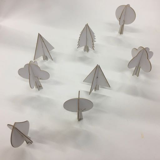 Laser cutting tiny trees