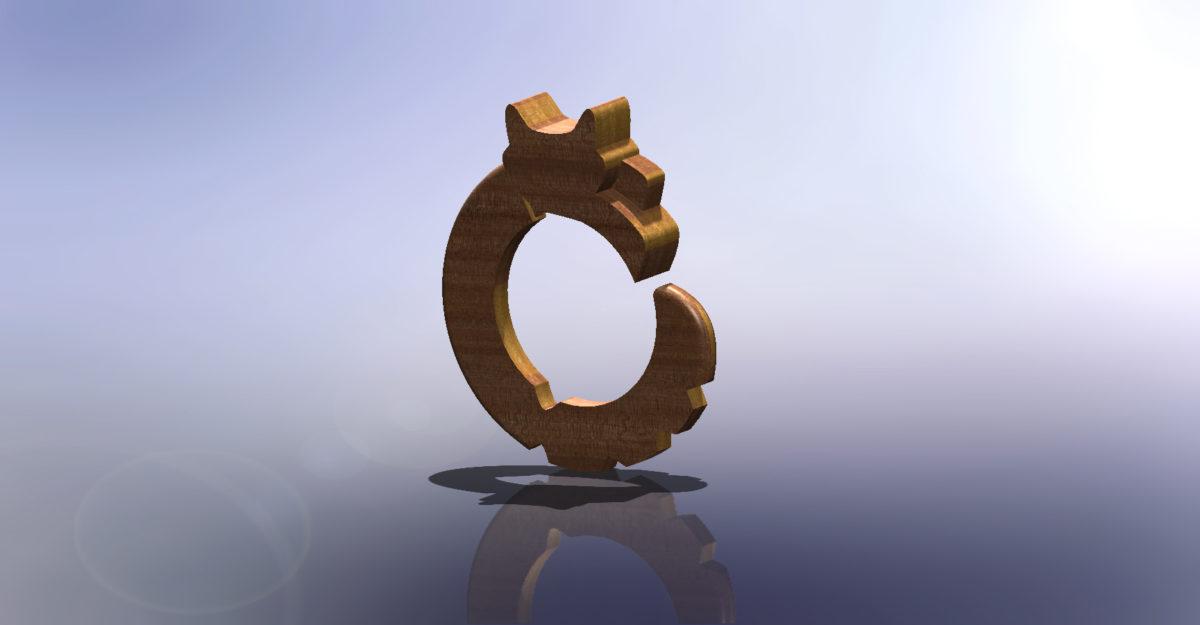 3D printed ring - render